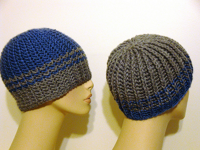 1774.- Gorros de ganchillo... para ellos | Labores en Red