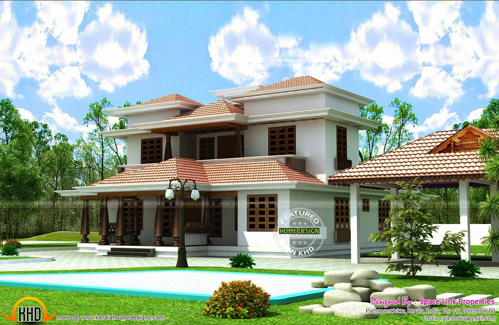 Typical kerala traditional house kerala home design and for Small traditional home plans