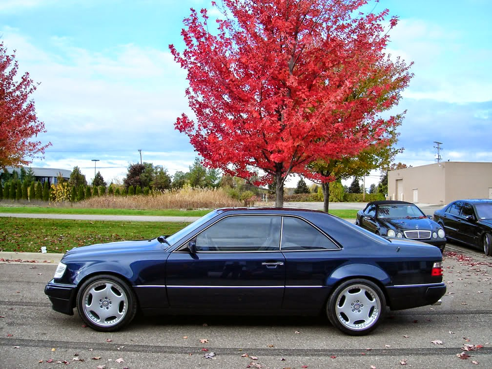 Mercedes w124 e320 coupe widebody on carlsson wheels for Mercedes benz w124 tuning