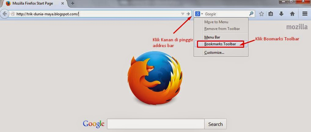 Cara Membuat Bookmark Toolbar Di Mozilla Firefox