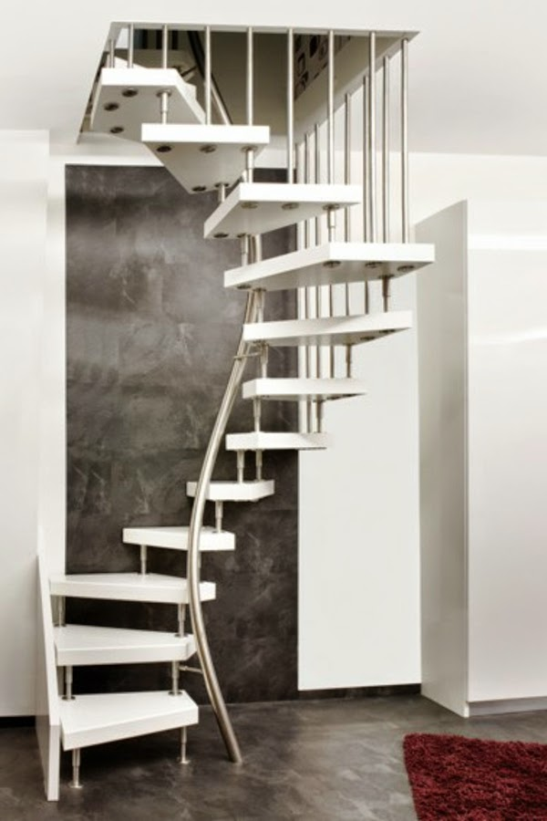 Spiral Space Saving Stairs   Metal Structure And Wooden Kits