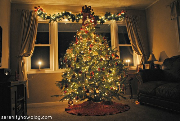 Our Real Christmas Tree 2012, Serenity Now blog