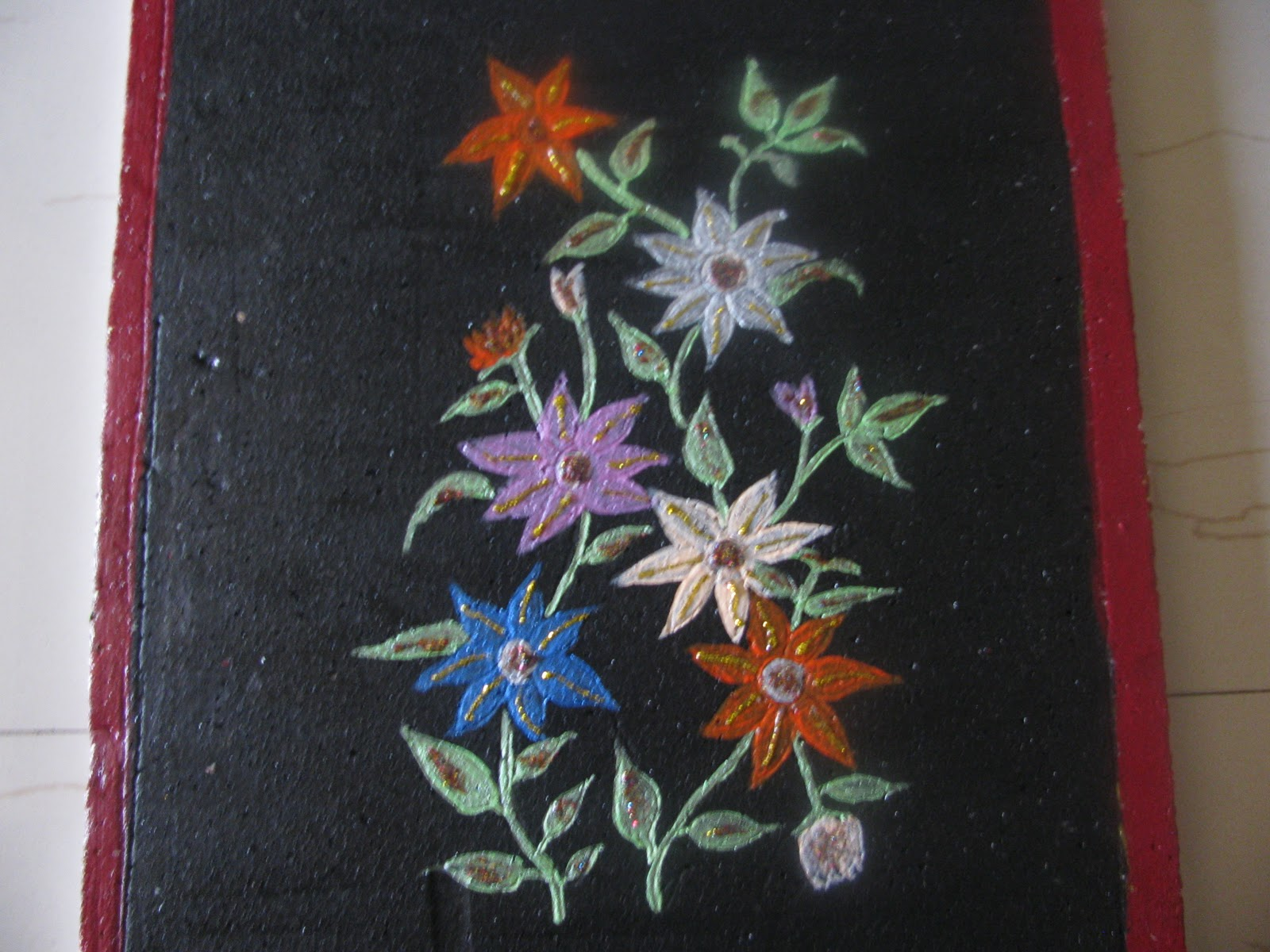 Sushma designs simple painting on thermocol for Simple watercolor designs
