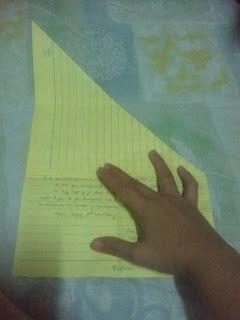folding letters