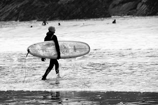 Surfer Newquay Cornwall