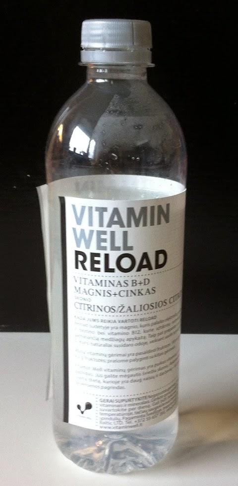 """Gėrimas """"Vitamin well reload"""" vitaminas B+D Magnis+CINKAS Citrinos/žaliosios citrinos skonis"""