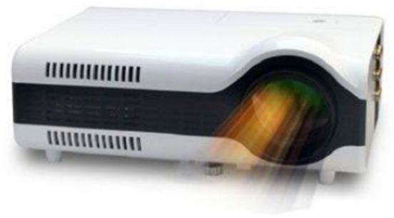 Sugu LED Projector 2+ Lumen 1500 TV Tuner - Putih