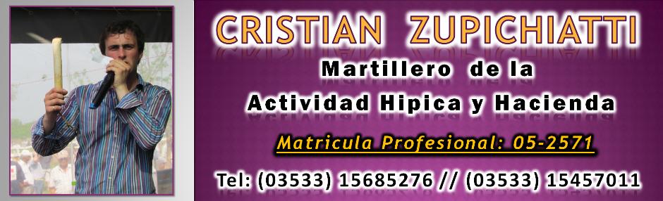 Cristian Zupichiati - Martillero