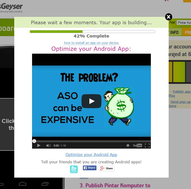 ... aplikasi anda dengan cara klik Download seperti gambar dibawah ini