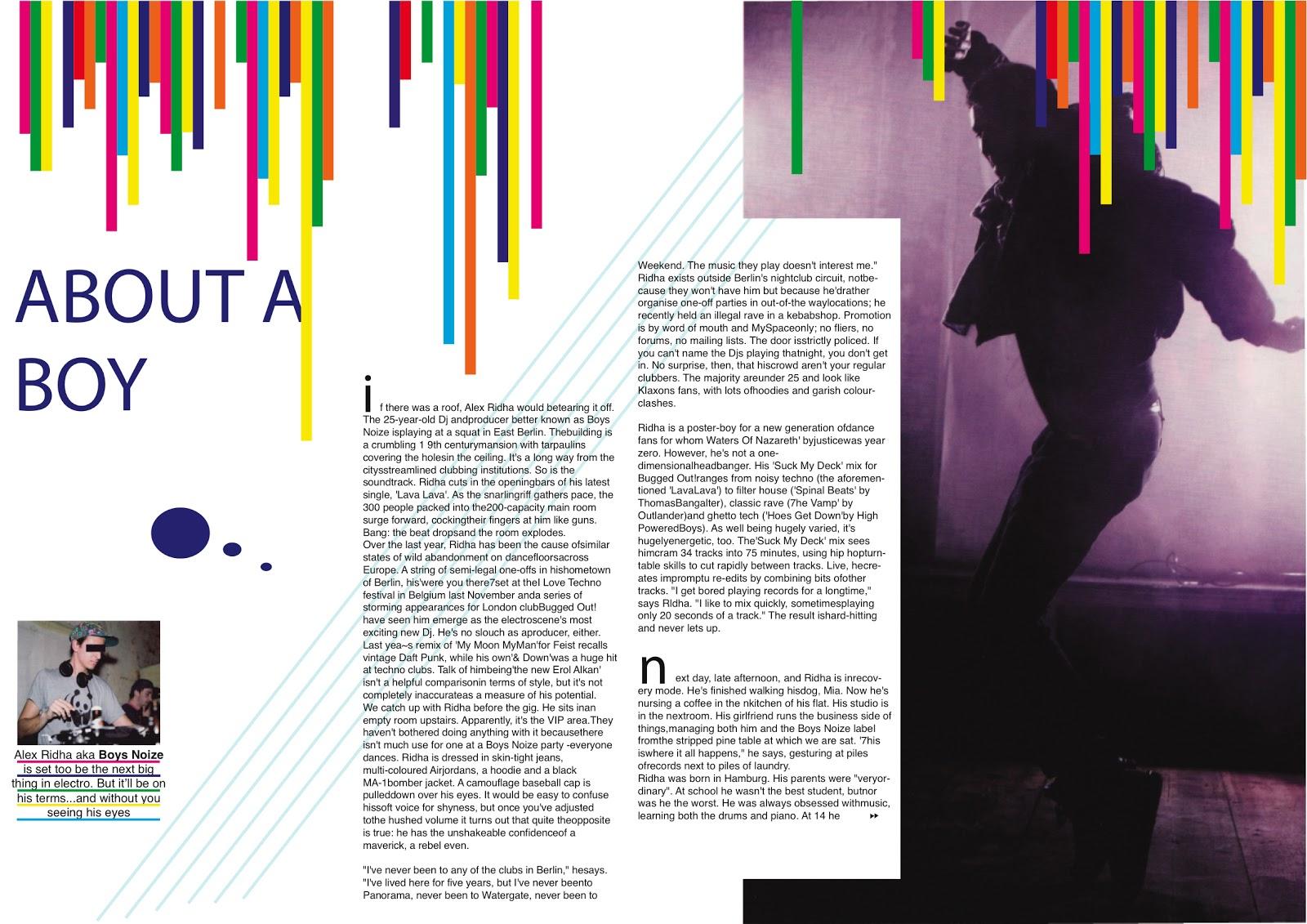 a magazine layout