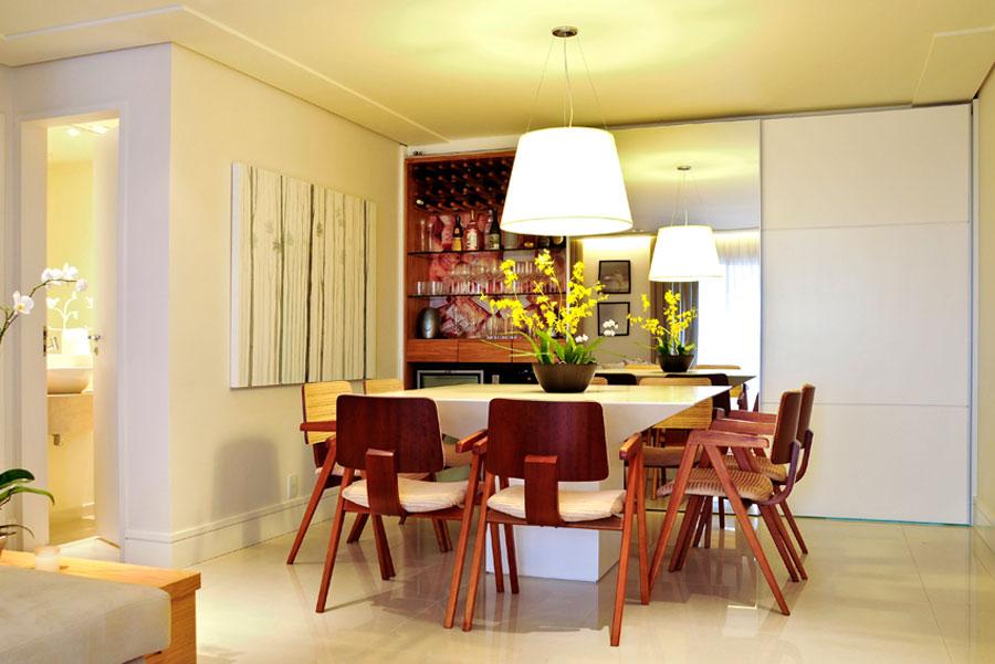 Sala De Jantar Mesa Quadrada ~ Mesa branca para o jantar!  AnInteriores