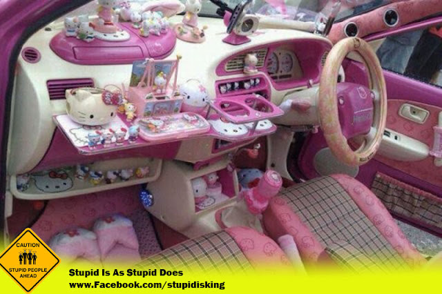 Hello Kitty Themed Car