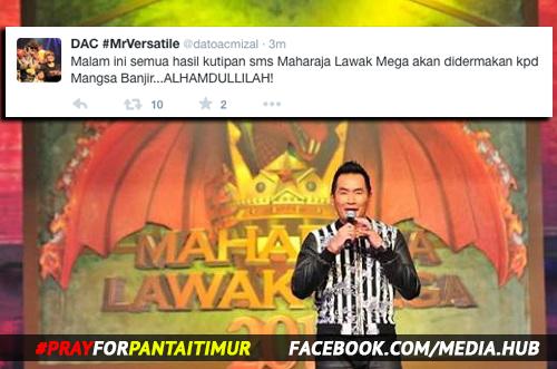 Kutipan SMS Maharaja Lawak Mega 2014 Disumbangkan, mangsa banjir dpt bantuan astro, info, terkini, berita, hiburan, MLM 2014