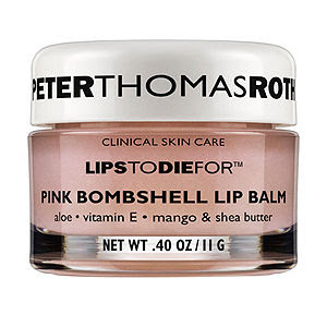 pale glossy lips, beauty trends, lipgloss, lip gloss, lip trends, runway beauty looks, Fashion Week, Peter Thomas Roth Lips To Die For Pink Bombshell Lip Balm