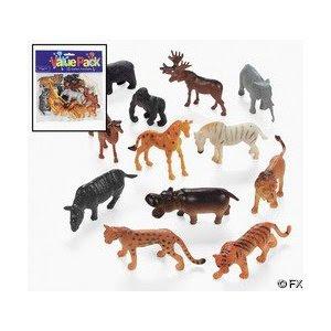 Pre-kindergarten toys - 12-pc Plastic Safari Animals
