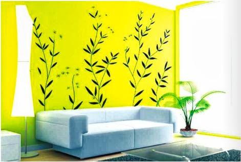 decorar con amarillo y pegatinas