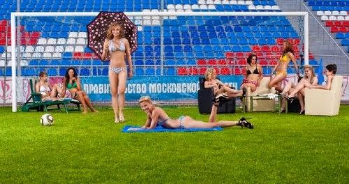 Bikini girls soccer - play football