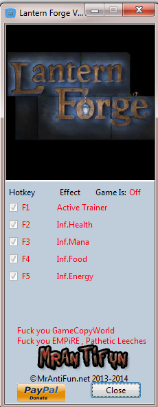 Lantern Forge V1.05 Trainer +4 MrAntiFun