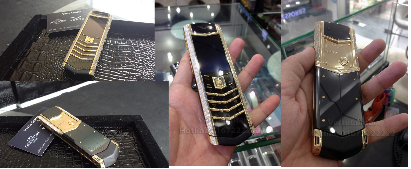 Vertu Signature S Yellow Gold Full Pave Diamonds fake 1