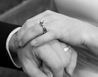 hands of bride and groom