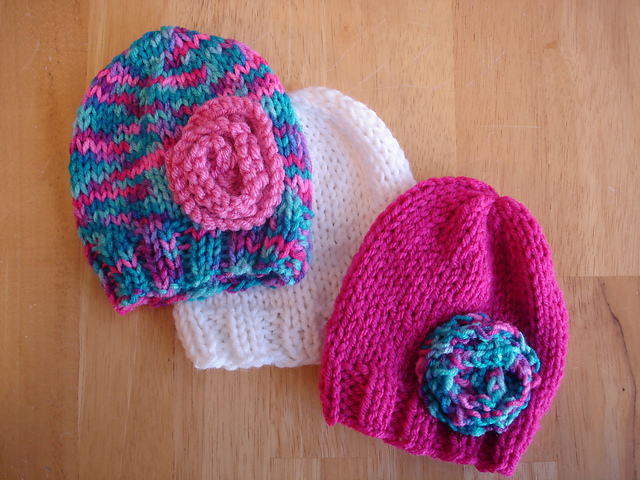 Knitting Pattern Preemie Baby Hat : Fiber Flux: Free Knitting Patterns