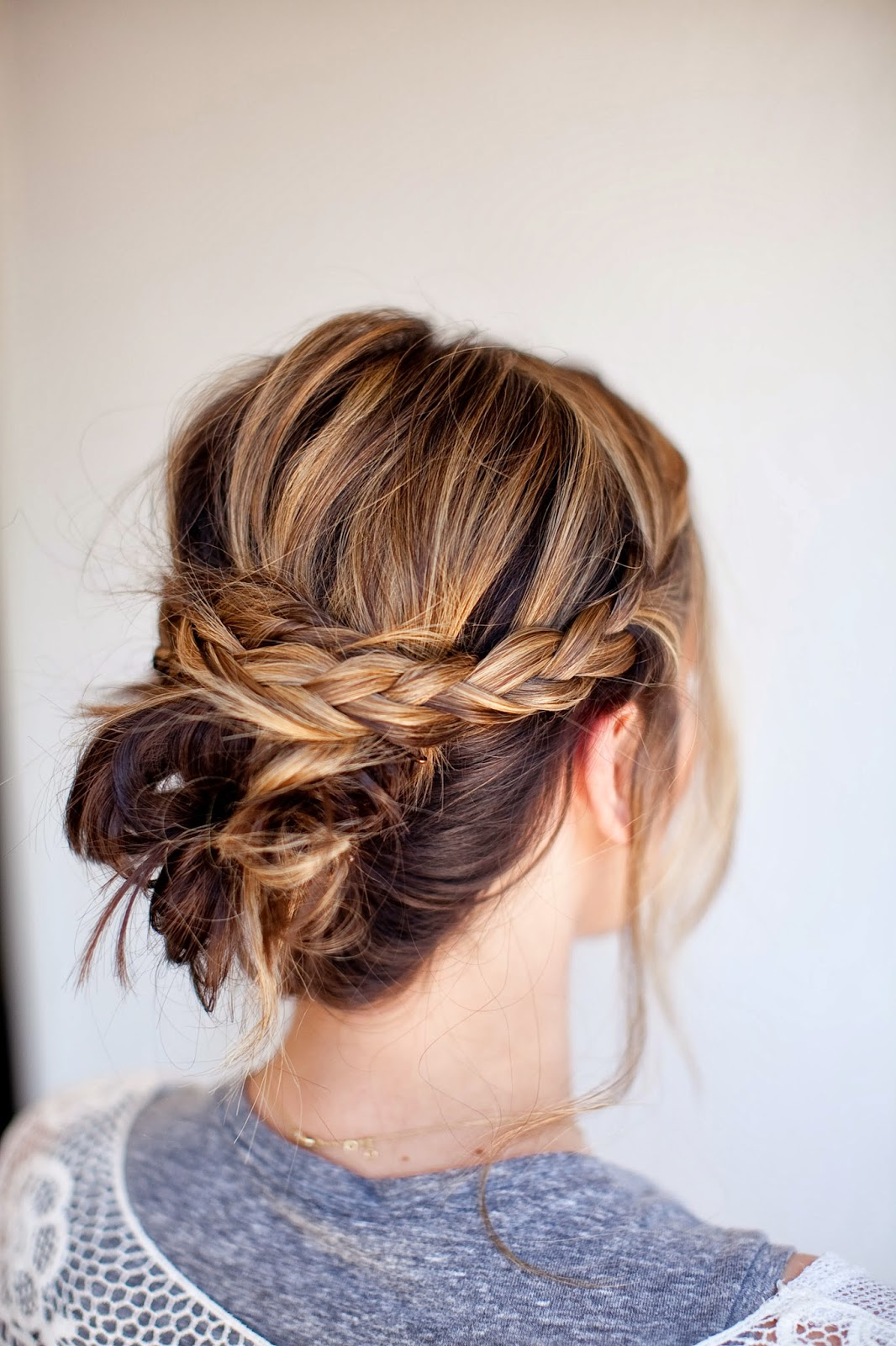 Fashion week Updos stylish for medium length hair for woman