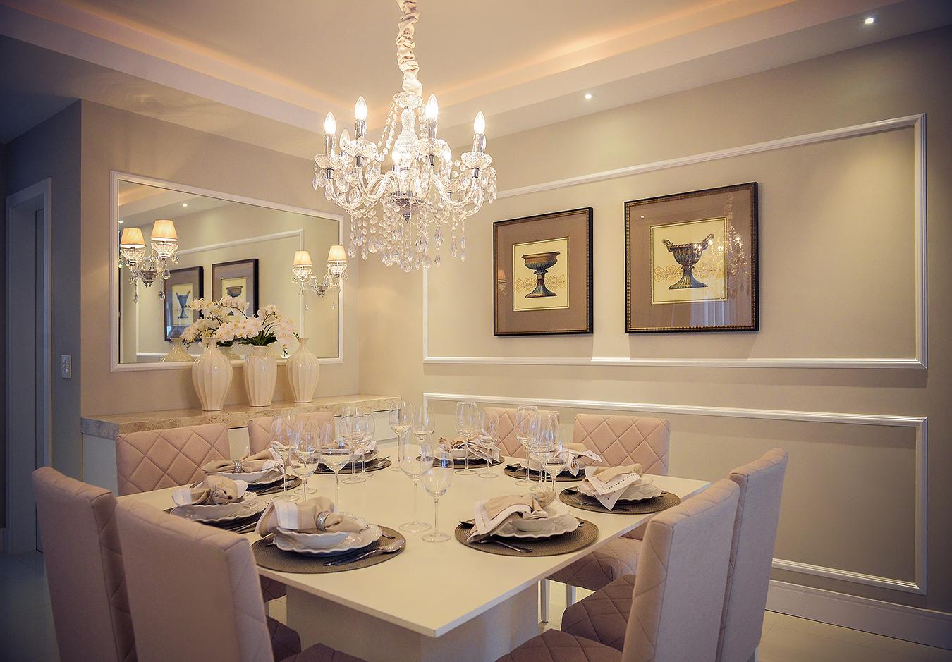 15 Salas De Jantar Com Lustres Cl Ssicos Veja Ambientes Lindos