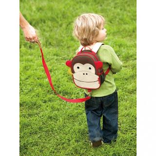 Mochila infantil de macaco para criança