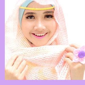 style hijab untuk wajah bulat