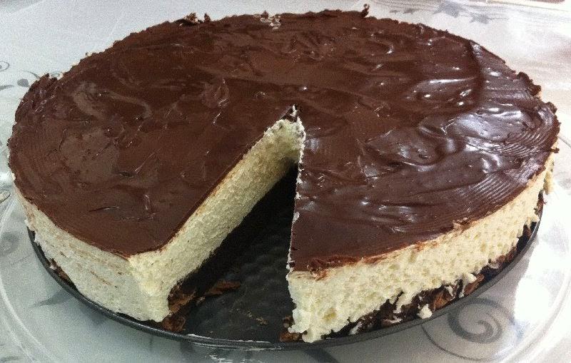 מתכון עוגת קרם עם שוקולד חגיגית  ללא קמח