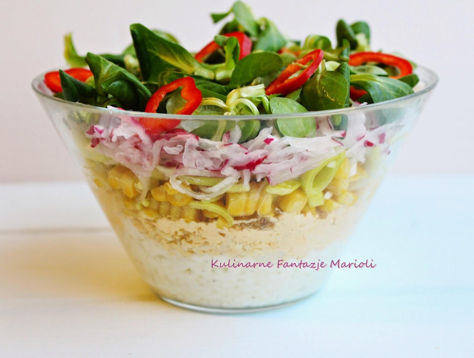 Salatka Warstwowa Dietetyczna Kulinarne Fantazje Marioli