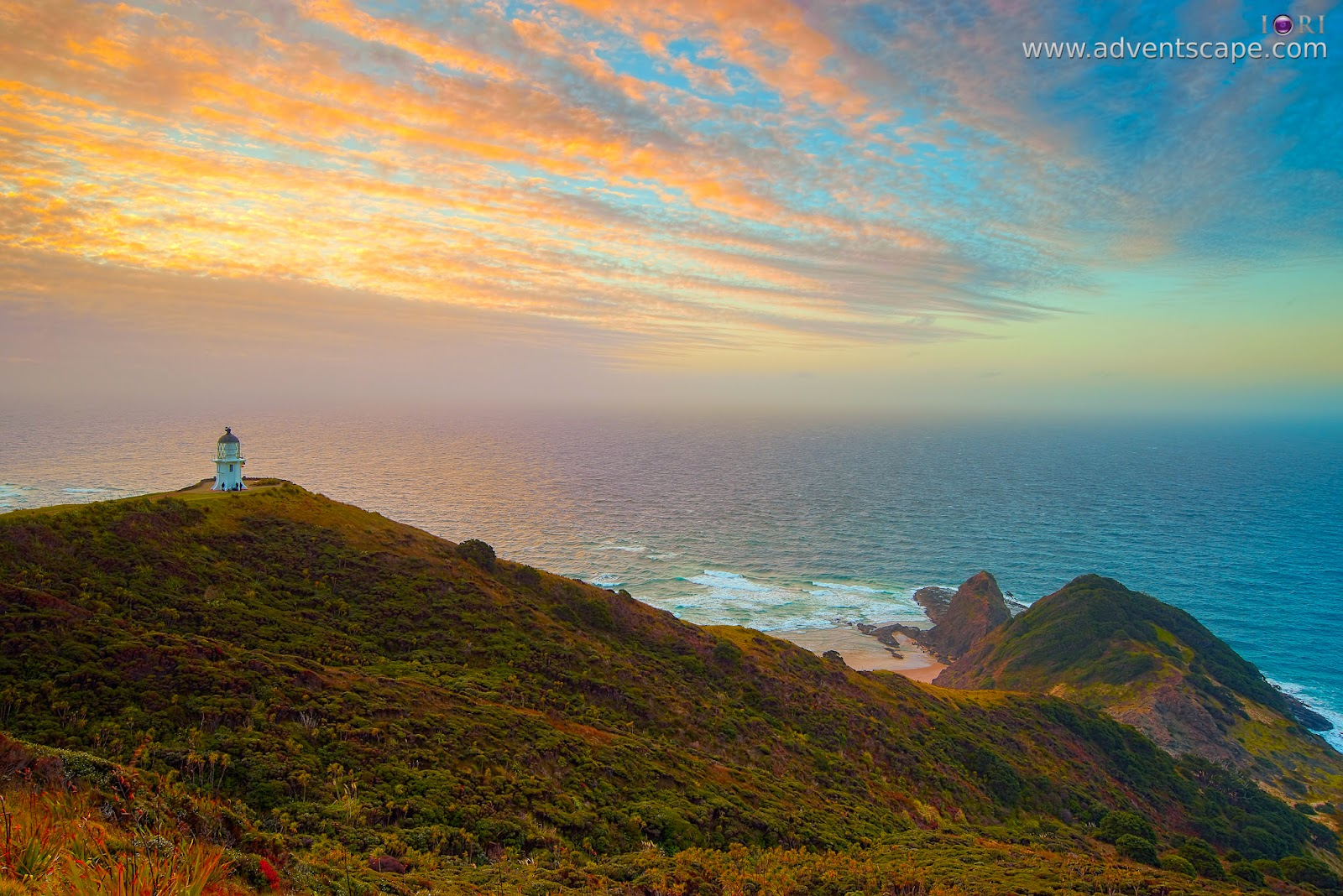 Philip Avellana, iori, adventscape, Cape Reinga, NZ, New Zealand, Te Paki, national park, lighthouse, landscape, seascape, sunset, north island, sparse