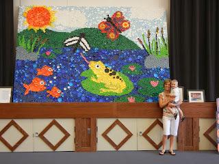 Bulletin boards to remember bottle cap mural for Bottle cap mural tutorial