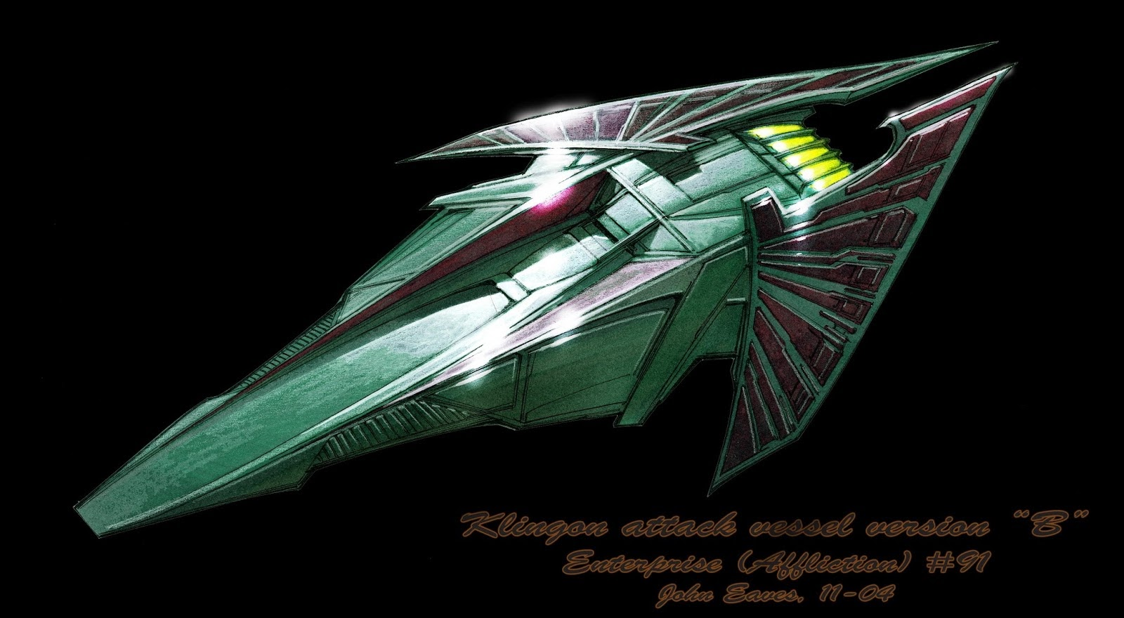 Guia de naves estelares: Diseños de naves klingons 2: Enterprise