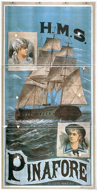 H.M.S. Pinafore public domain image