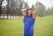 Neelam Upadhyay pics in Blue saree-thumbnail-2