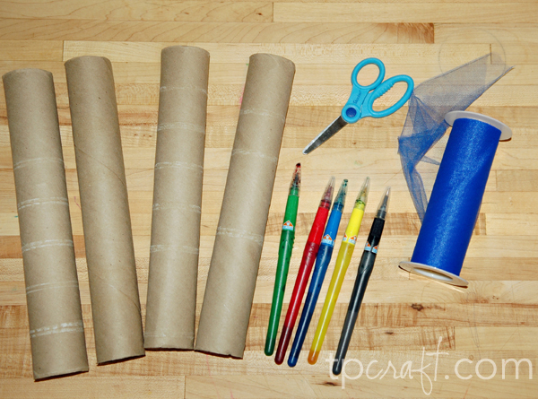 Paper towel roll countdown chain for Uses for paper towel rolls