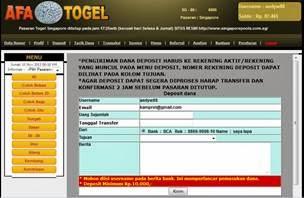 Cara Deposit Afa Togel