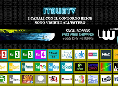 canali tv streaming
