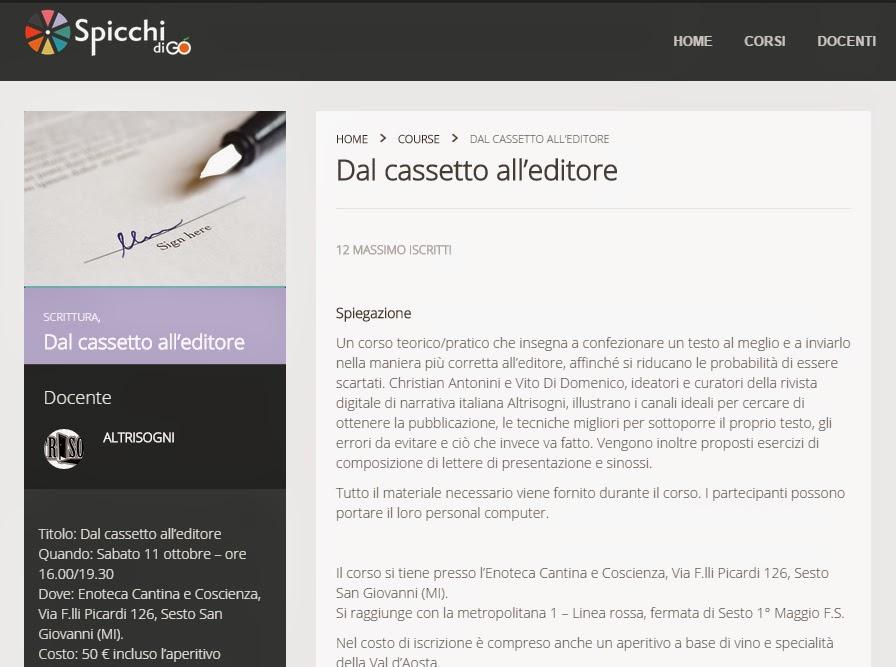 Vai alla pagina del corso su Spicchi.com