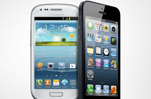 perbandingan iphone terbaru vs samsung galaxy series, adu iphone 5 vs galaxy s 3 mini, bagusan mana iphone atau galaxy android?