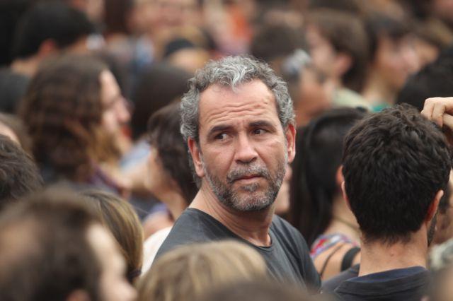 Willy Toledo en las manifestaciones de Democracia Real