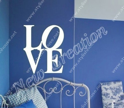 Love word wall stickers for bedroom walls