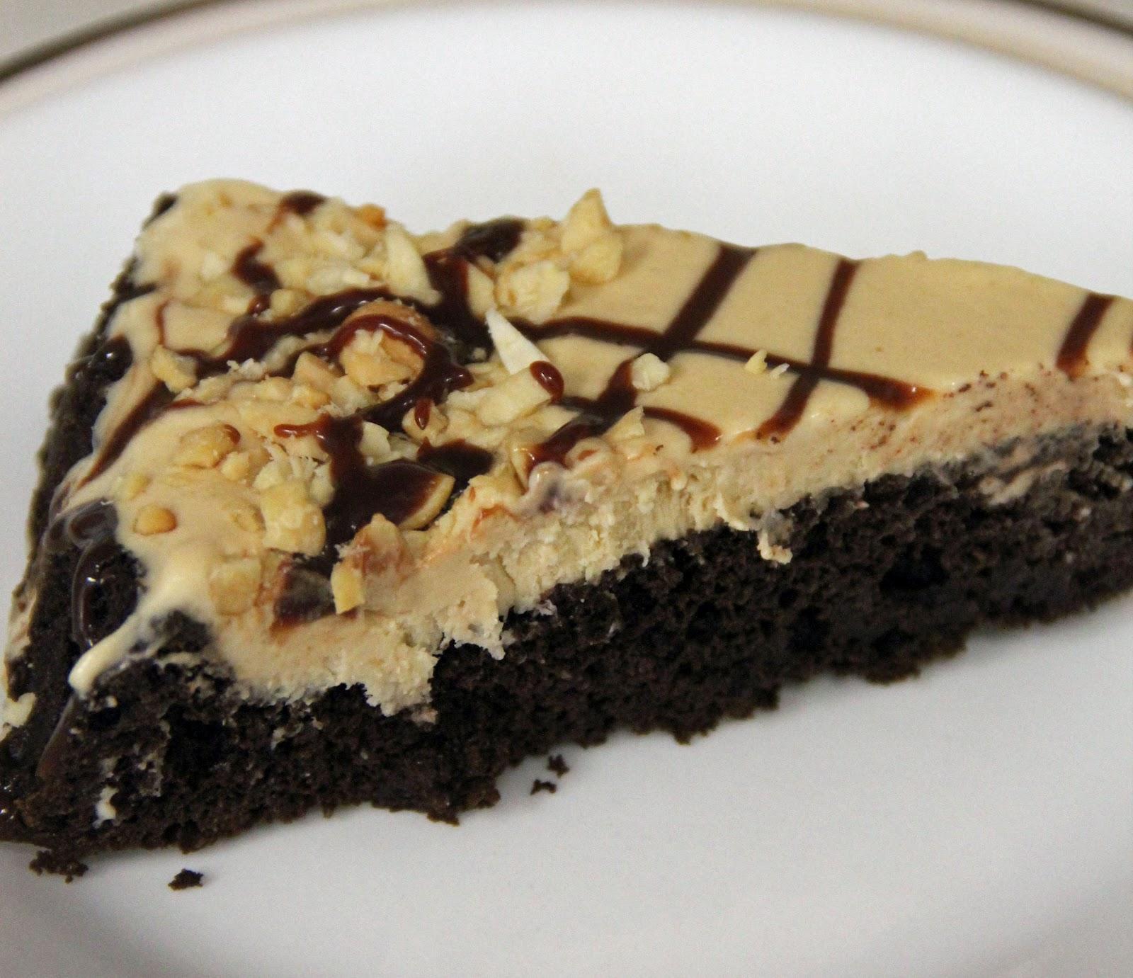 Salted Peanut Butter & Honey Ice Cream in a Chocolate Cake Tart