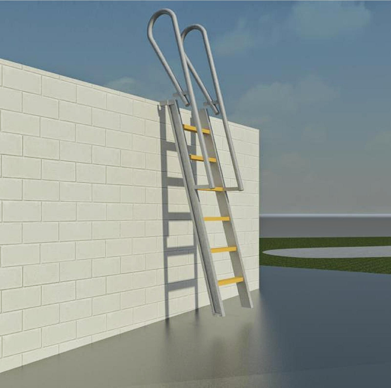 Stairs To Roof Deck Ideas With Wall Ladder Designs