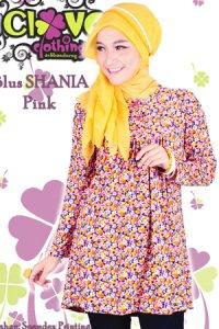 Clover Clothing Blus Shania - Pink (Toko Jilbab dan Busana Muslimah Terbaru)