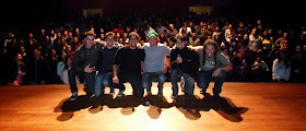 Com Kim Archetti, Bruno Leite, Lelo Mattos, Felipe Hamachi e Digu Hang
