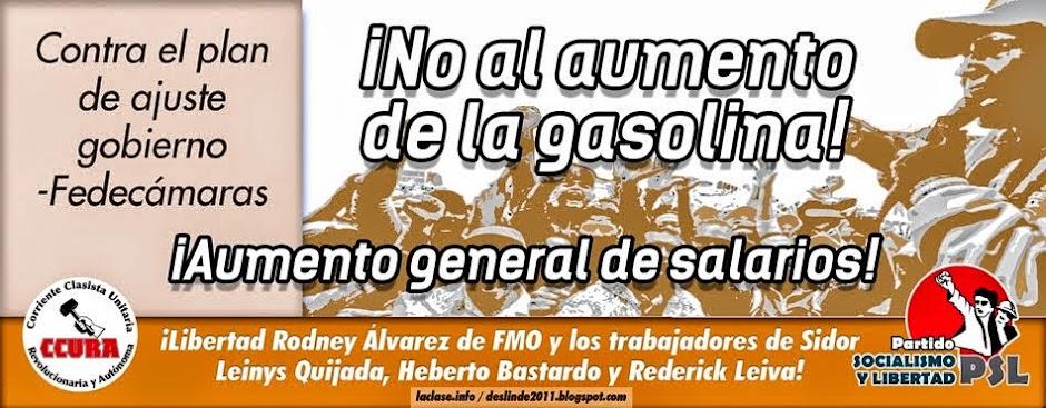 No al aumento del precio de la gasolina