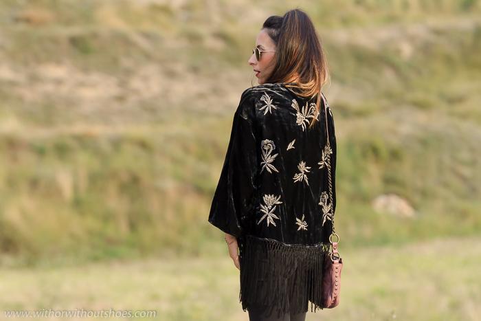 Blogger de moda española con tendencia boho hippie chic 70's