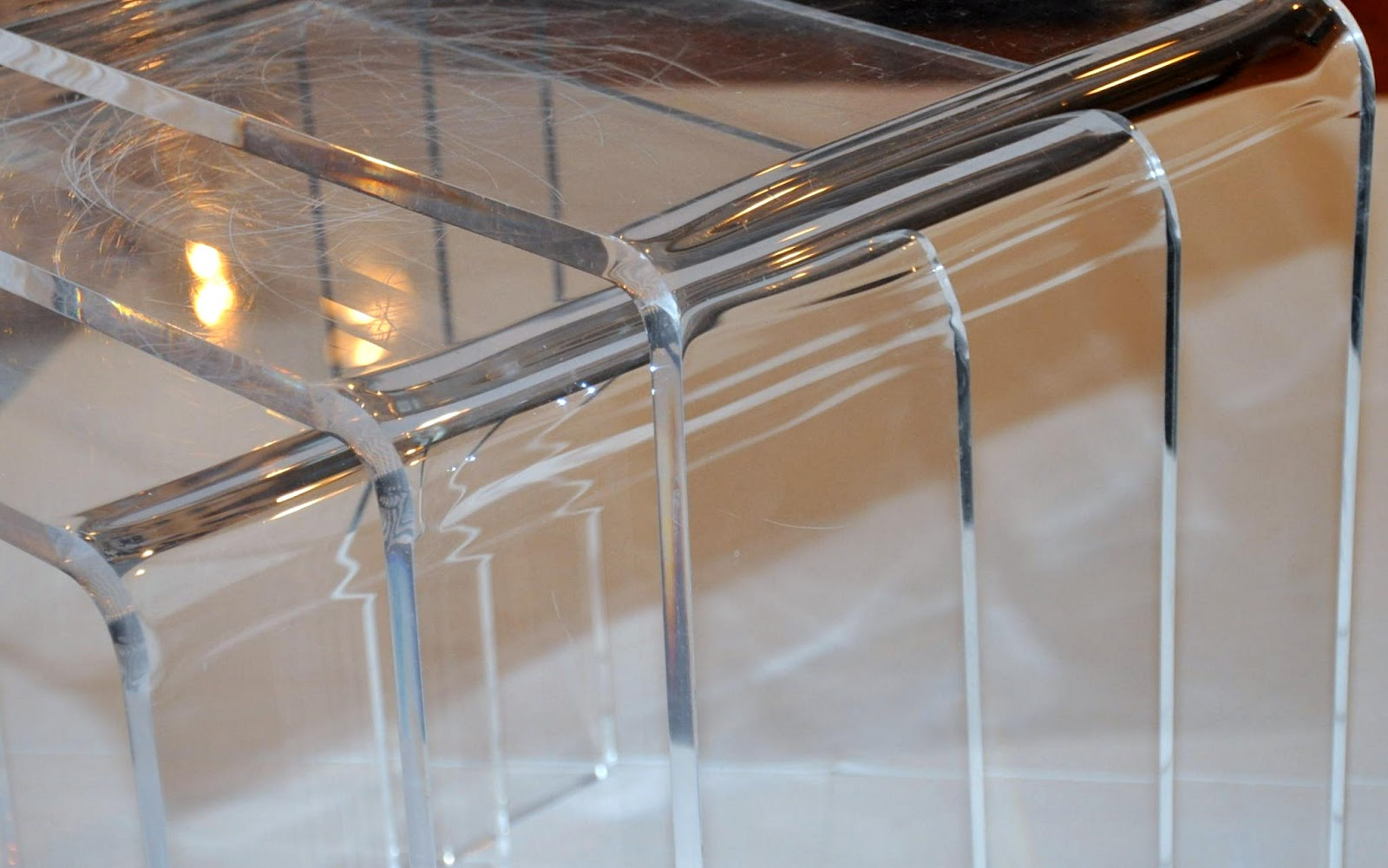 Select modern vintage 1970s lucite waterfall nesting tables watchthetrailerfo
